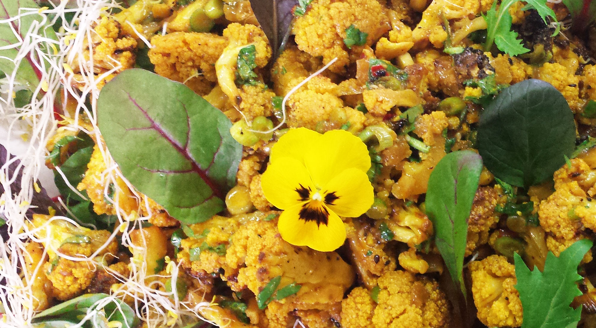 Ofen-Blumenkohl-Salat/ Curry/ Platte- Buffet